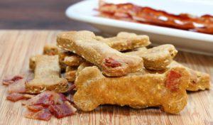 Valentines Day homemade bacon dog treats