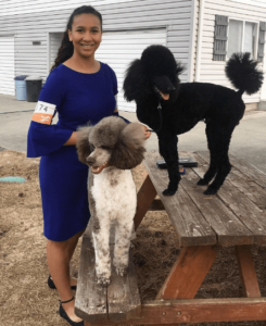 QC Pet Studies student, Camille Torkornoo and her 2 poodles