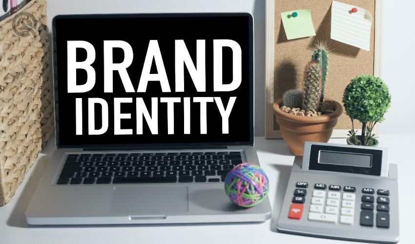 Brand identity on laptop