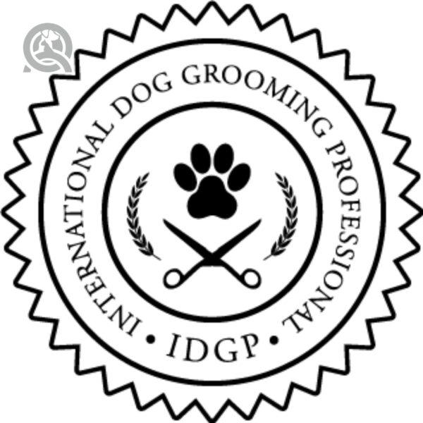 QC Pet Studies International Dog Grooming Professional IDGP certification seal
